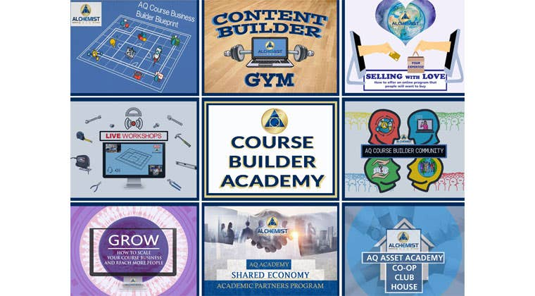 Image of all the Course Builder Academy programs