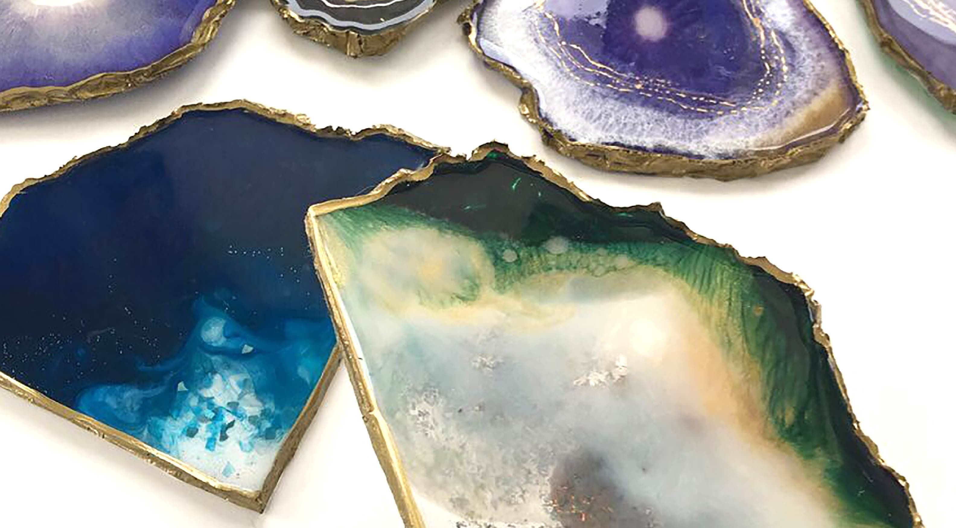Free Form Resin Coasters