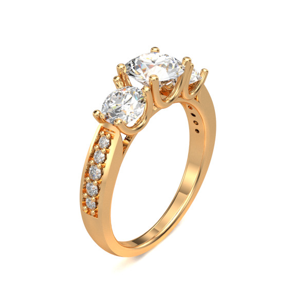 Solitaire Ring with dark background