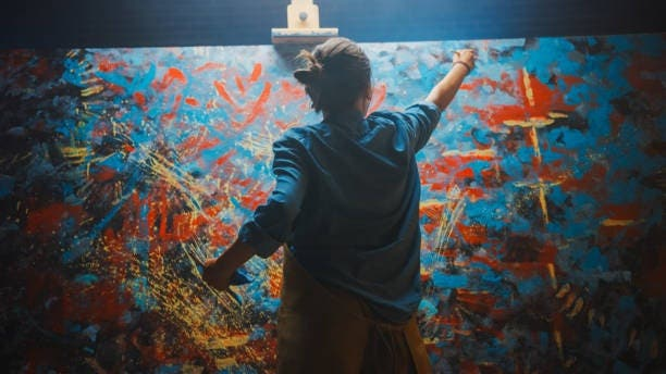 Paint your own Abstract Painting in only TWO hours!