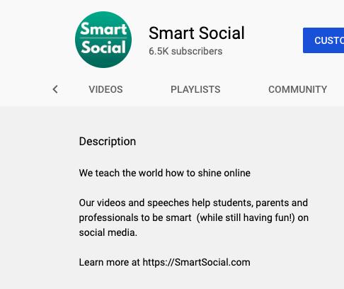 youtube bio