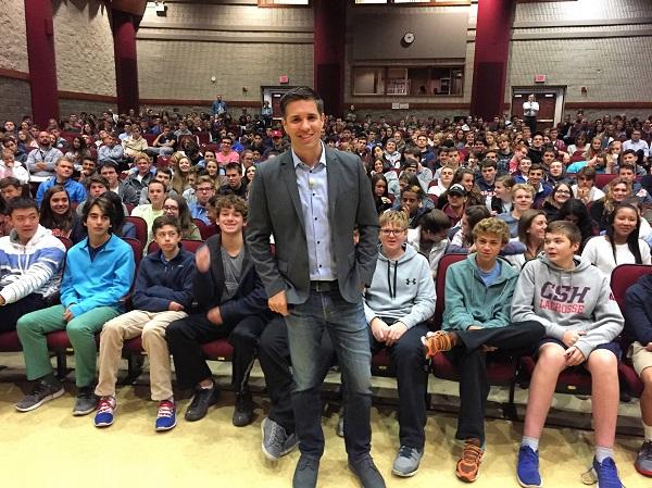 Josh Ochs In Front Of Students
