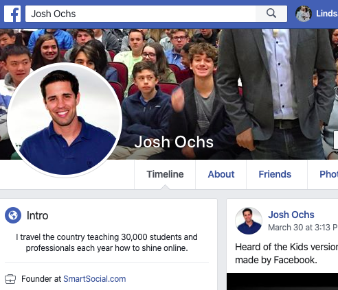 facebook bio