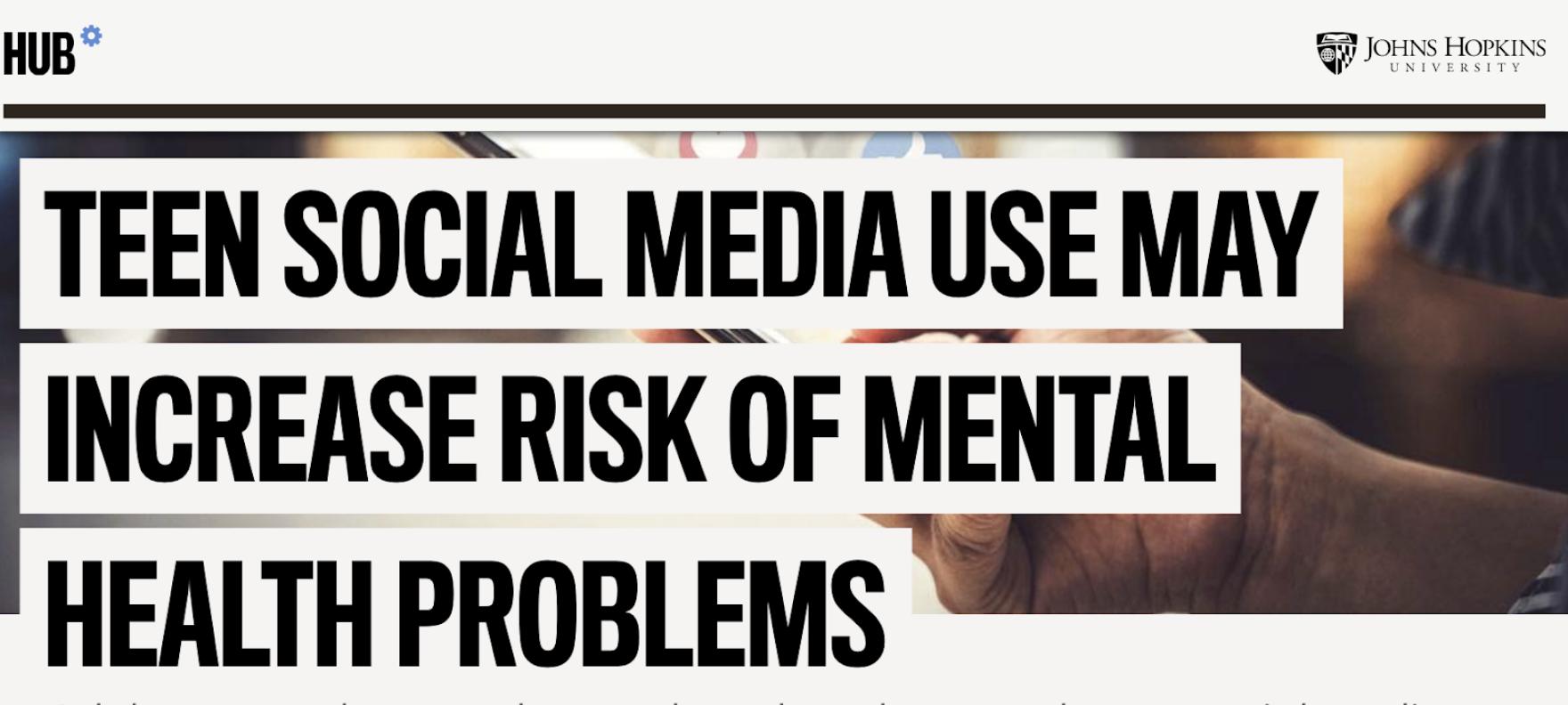 John Hopkins on Teen Mental Health