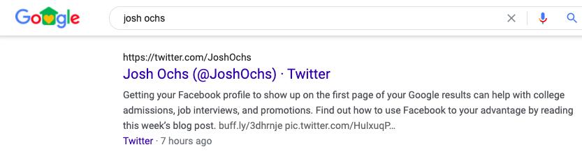 twitter on google