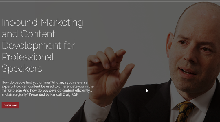 Module 10 - Inbound Marketing and Content Development for Professional Speakers