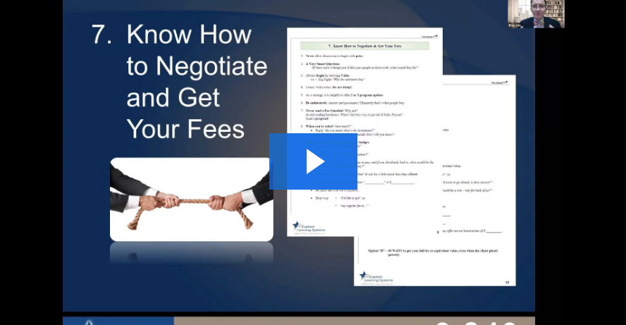 Module 15 - Establishing and Setting Fees, Negotiating Fees