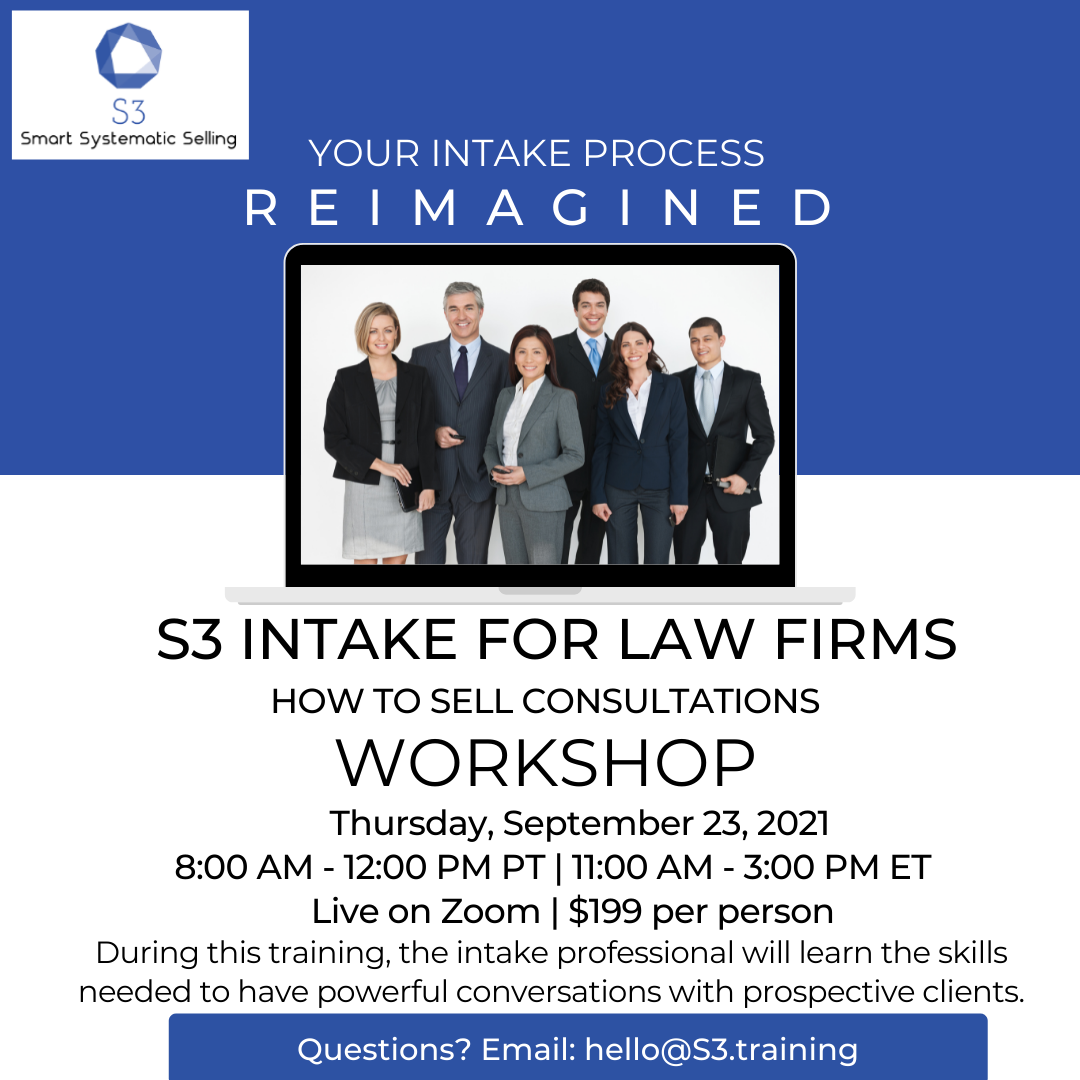 S3 Intake for Law Firms Workshop