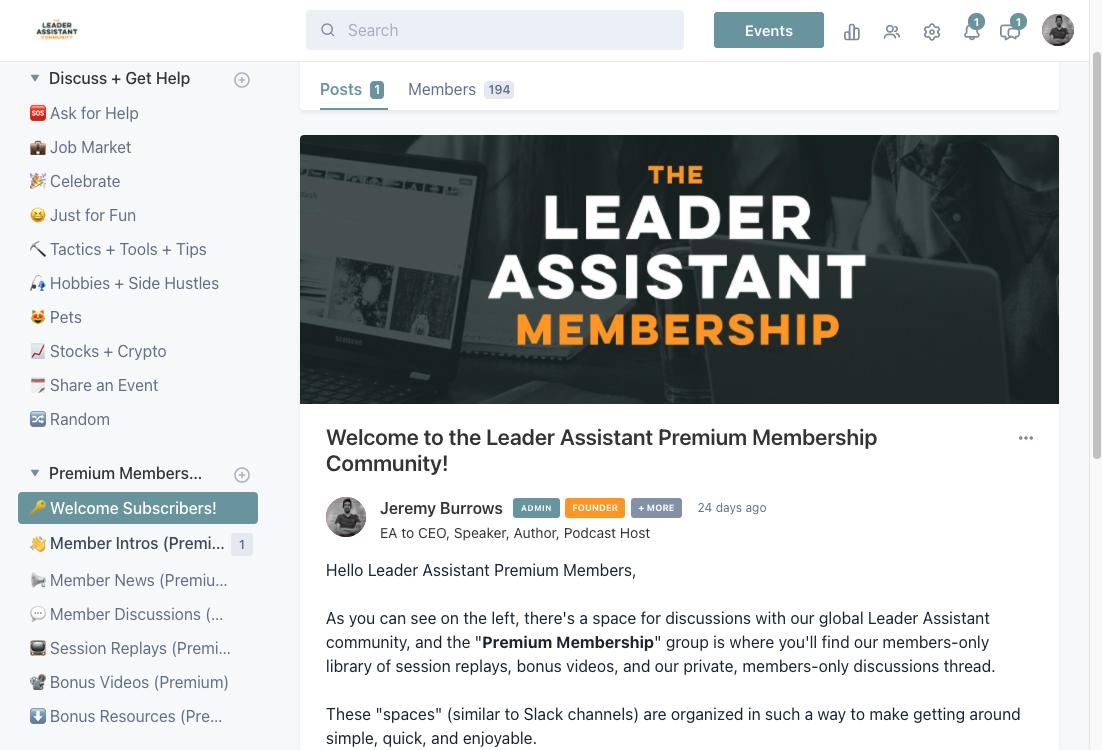 Leader Assistant Circle Membership