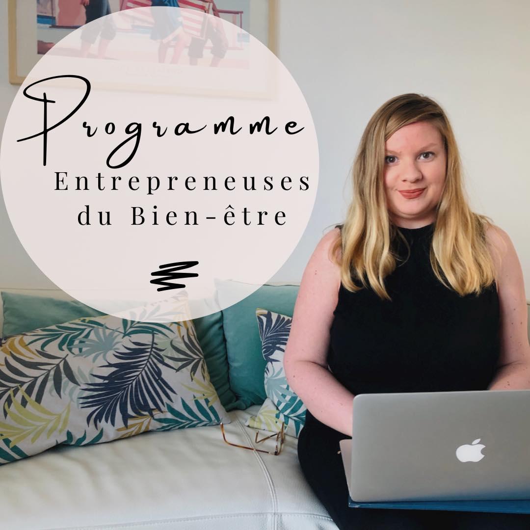 Programme Entrepreneuse du Bien-être - 6 mois pour lancer ton activité de coach, thérapeute, naturopathe, sophrologue, prof de yoga... en ligne !