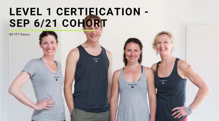 Level 1 Certification - Sep 6/21 Cohort