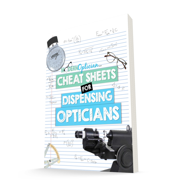 cheat sheets for Dispensing Opticians