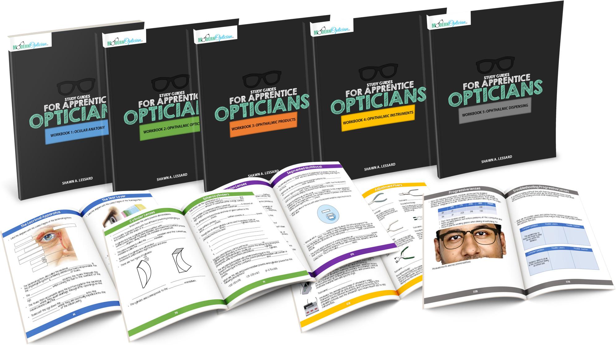 workbooks for apprentice opticians