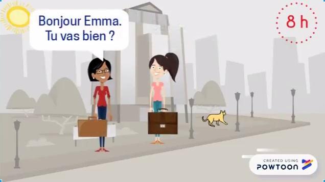 apprendre le français avec des vidéos animées