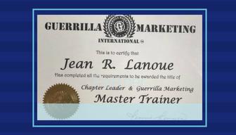 Guerrilla Marketing Master Trainer