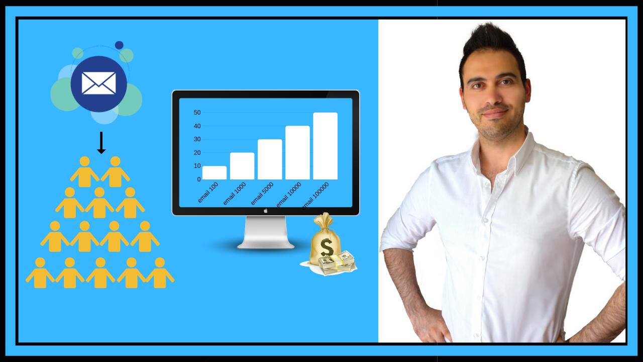 الدورة الكاملة في بناء قائمة بريدية وإحتراف التسويق بالعمولة