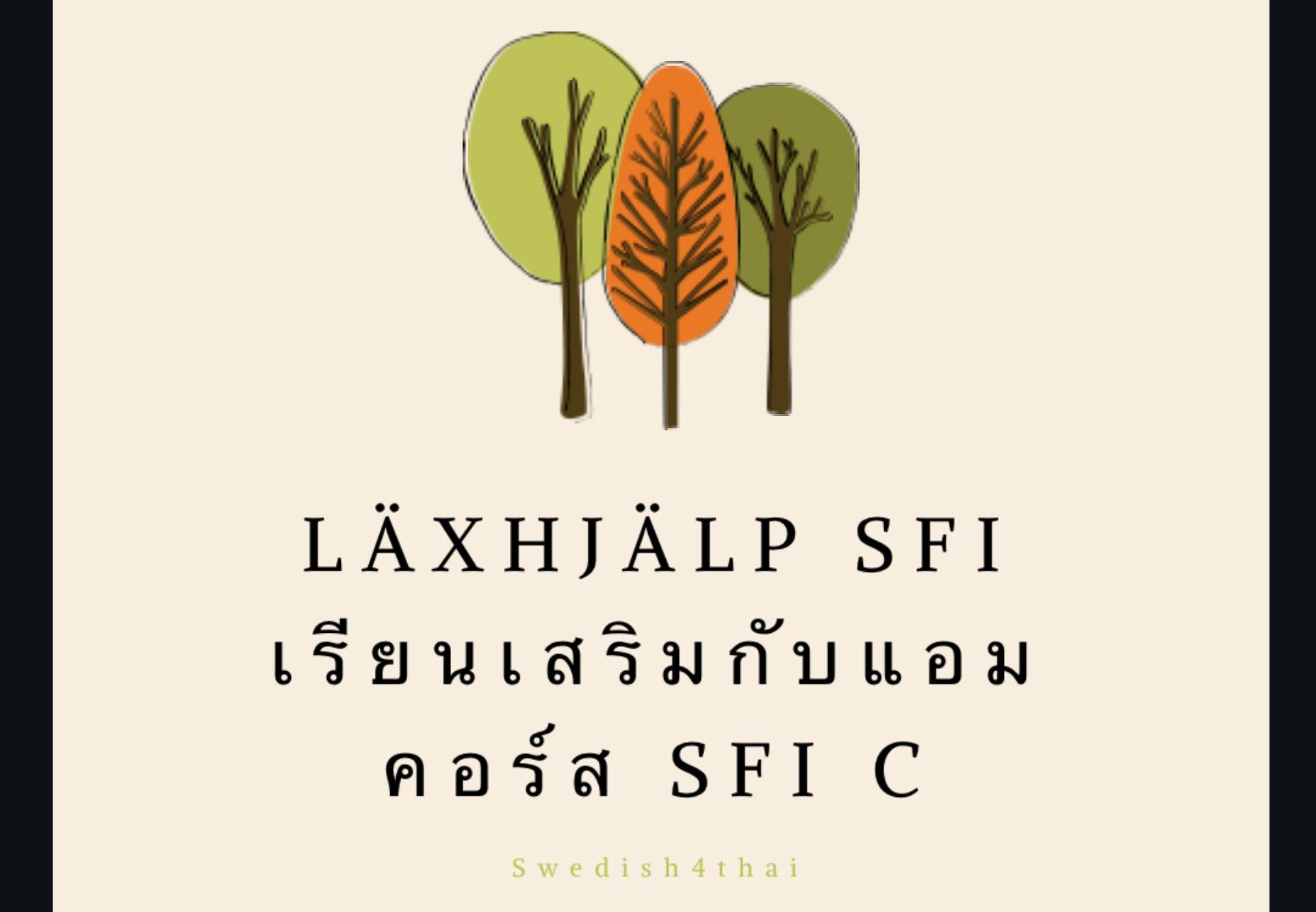 Läxhjälp - เรียนเสริม SFI C กับแอม