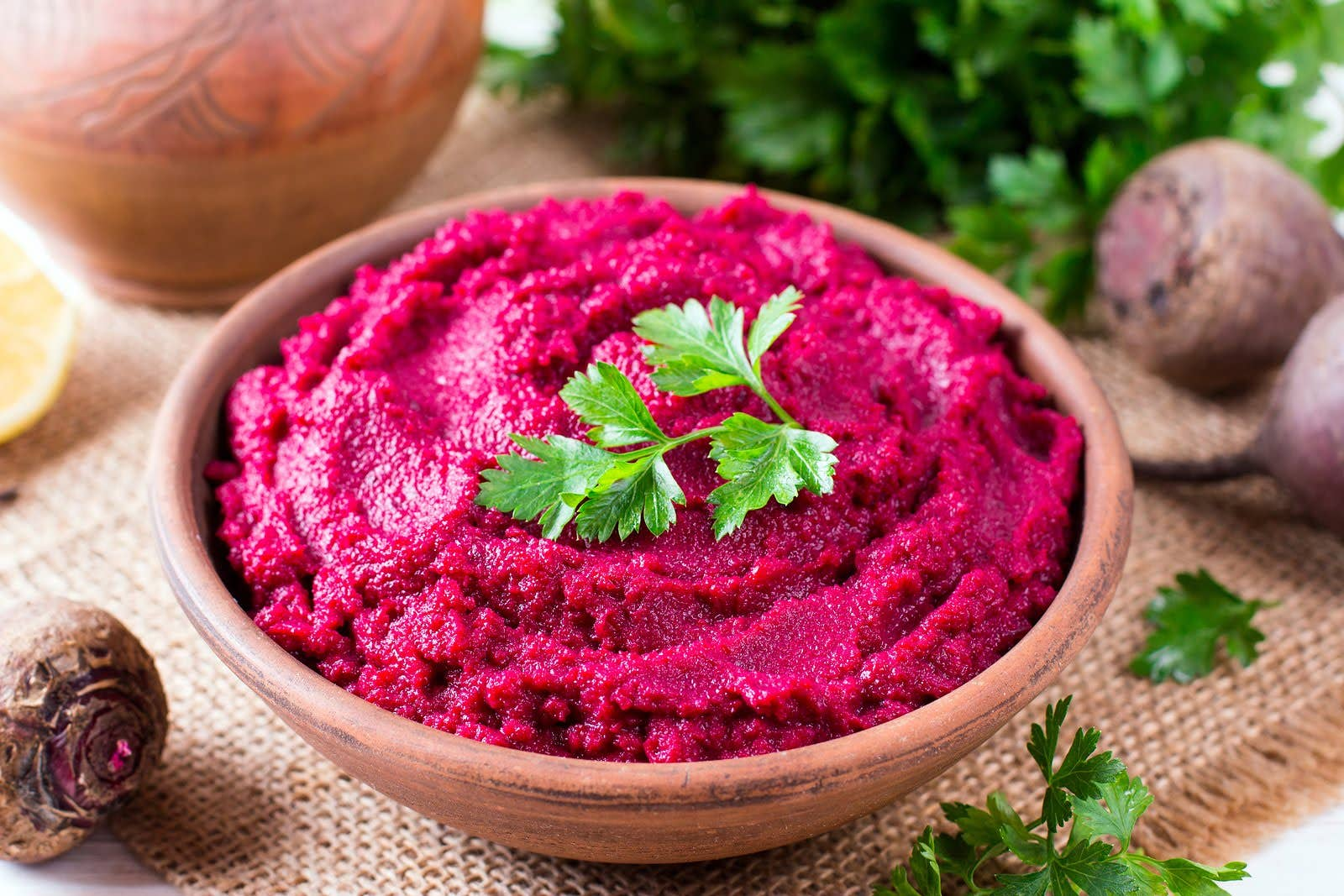 beetroot hummous