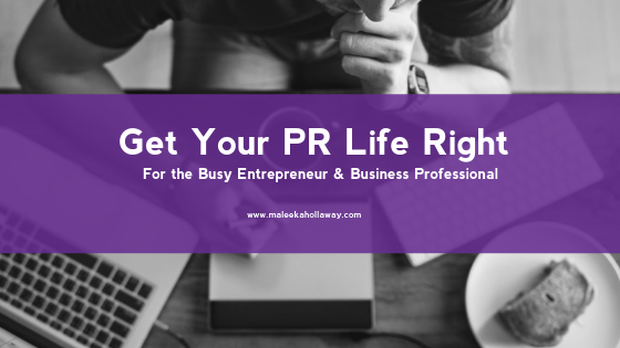 Get Your PR Life Right Mini-Course #PRPopUp