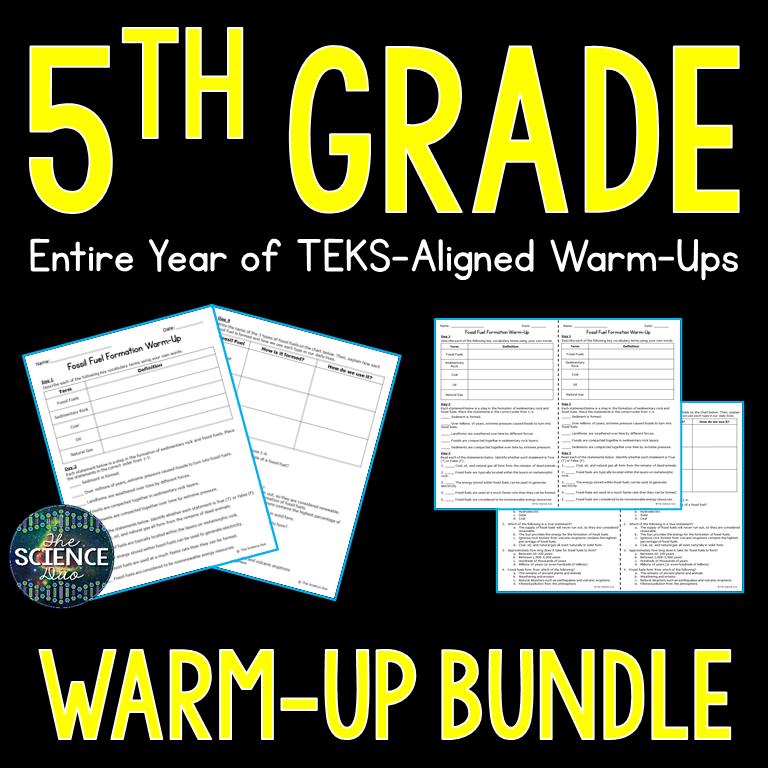 5th Grade Warm-Up Bundle