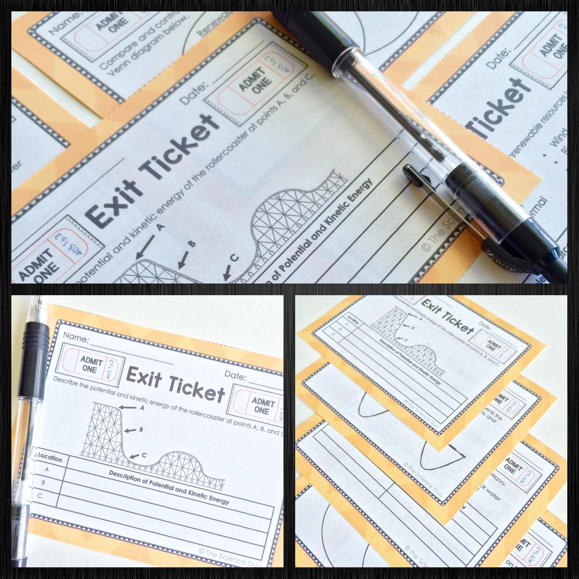 Energy Exit Tickets
