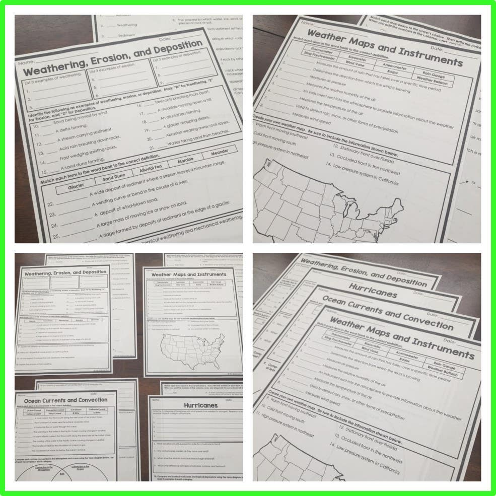 Weather Homework Pages