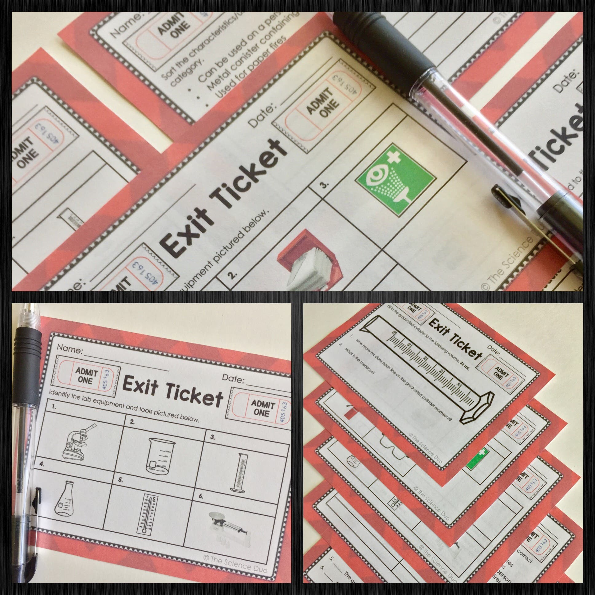 Safety and Scientific Method Exit Tickets