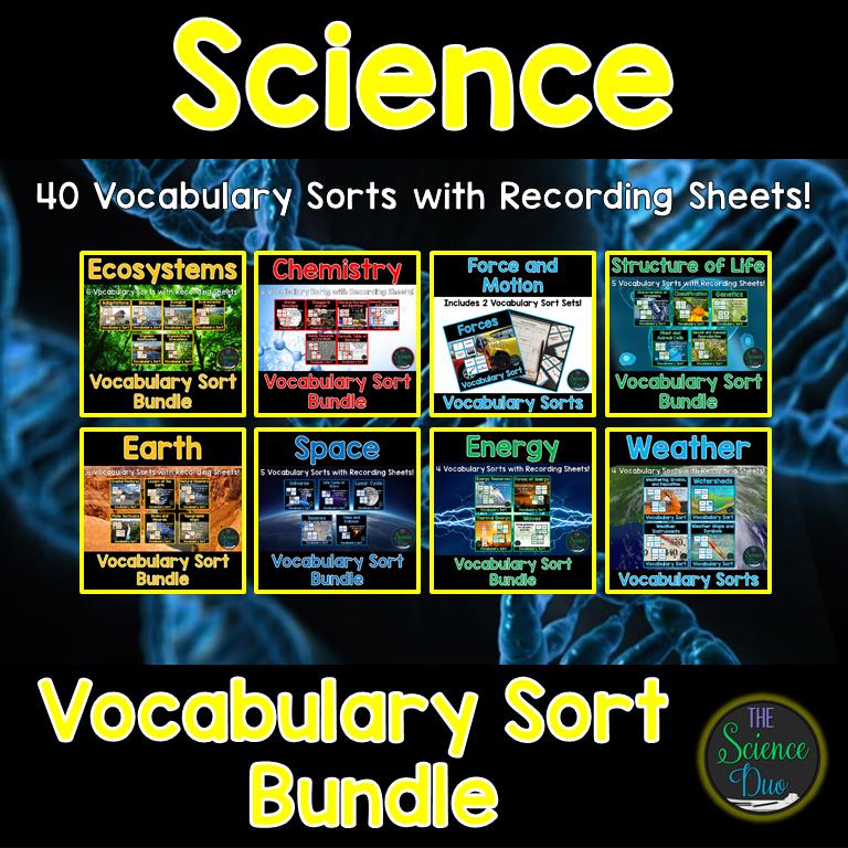 Vocabulary Sort Bundle