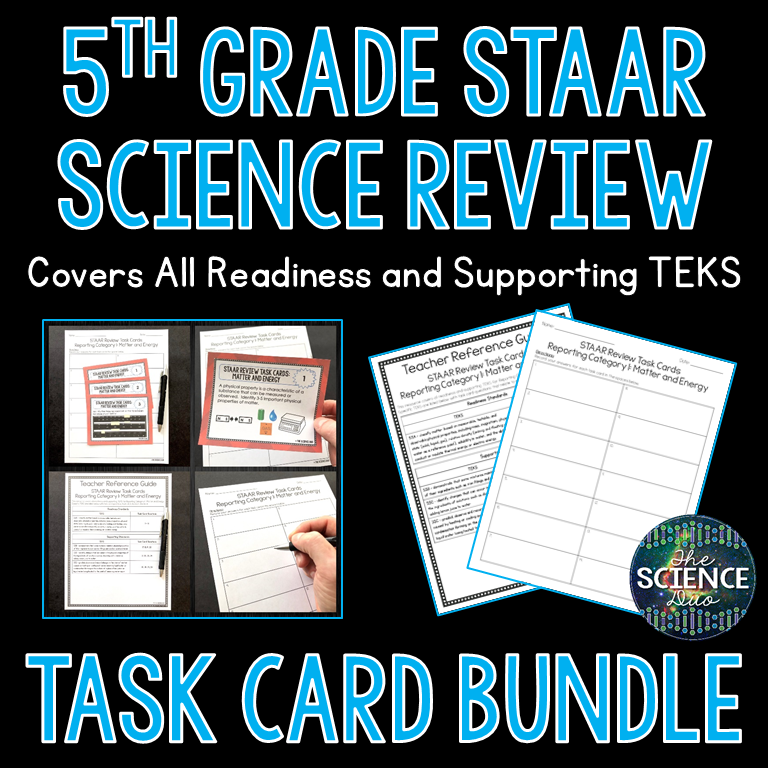 5th Grade STAAR Review Task Cards