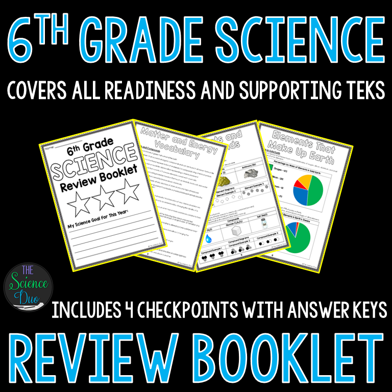 6th Grade Science Review Booklet
