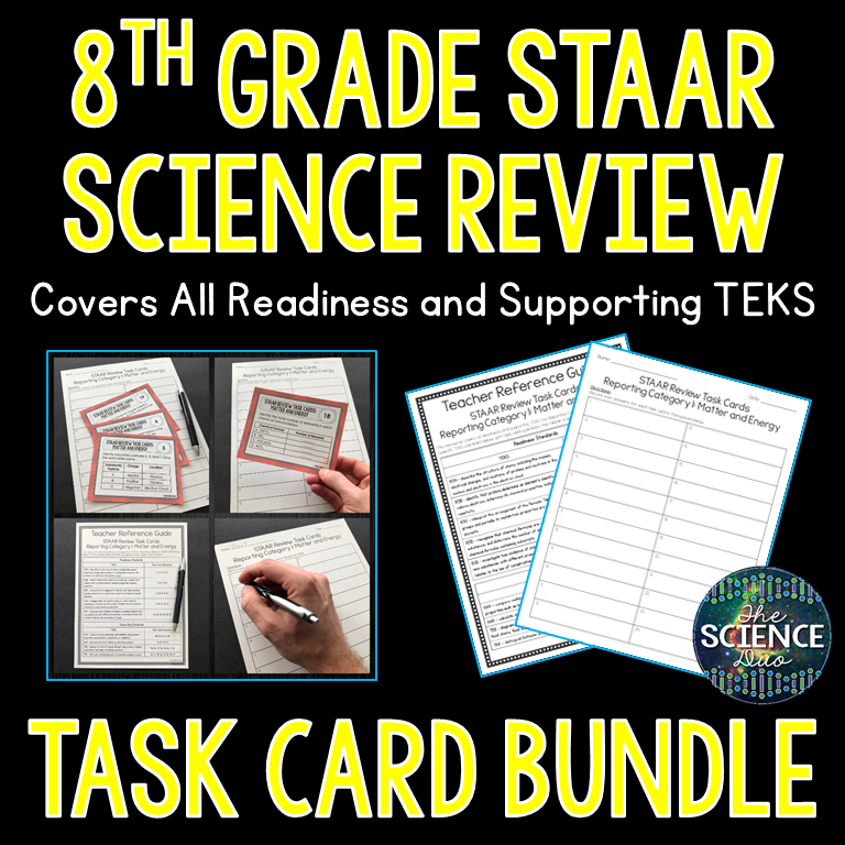 8th Grade STAAR Review Task Cards