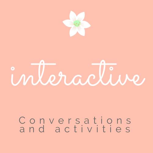 Interactive activities. Couple's conversations.