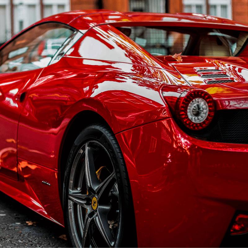 Red Ferrari Supercar