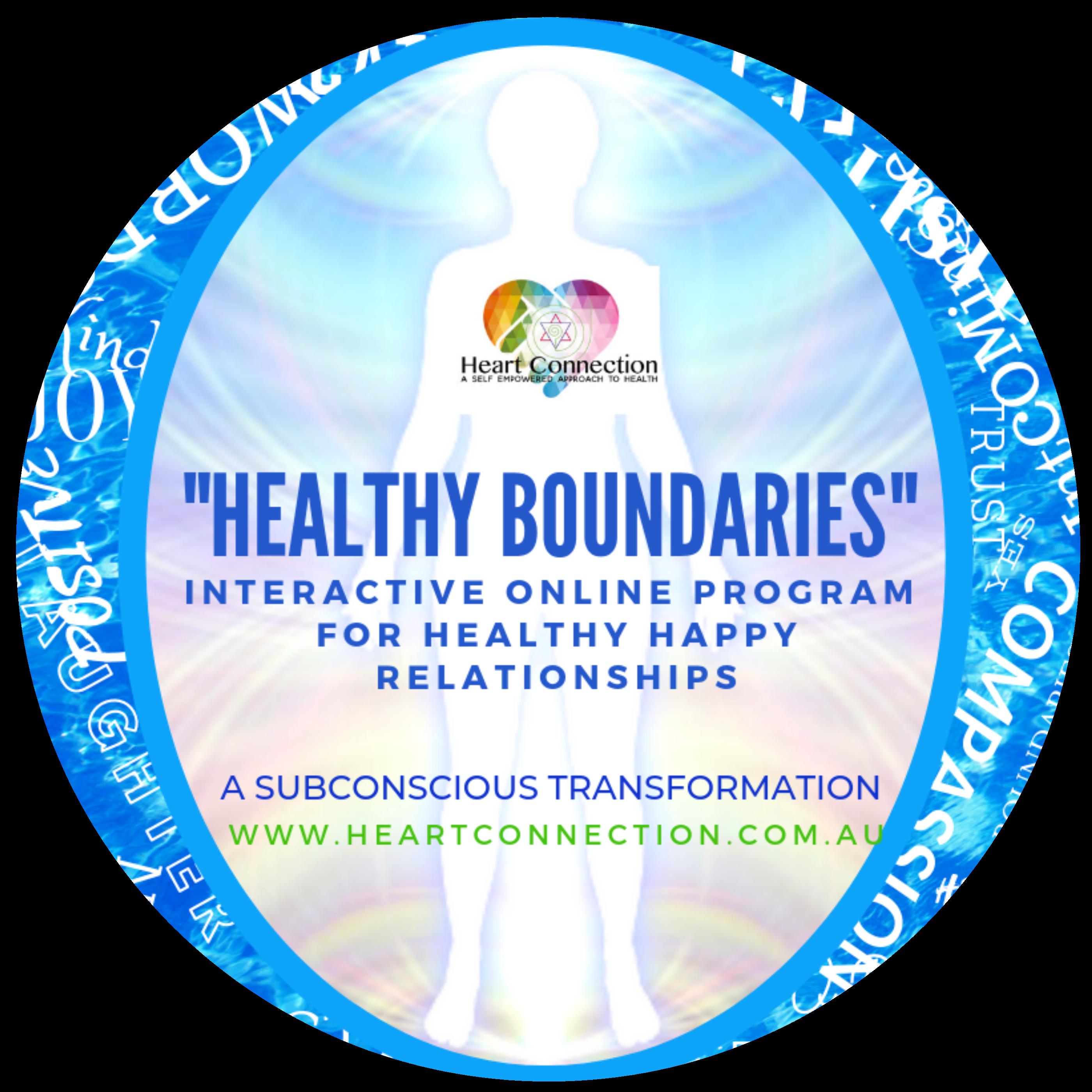 HEALTHY BOUNDARIES HEALTHY HAPPY RELATIONSHIPS