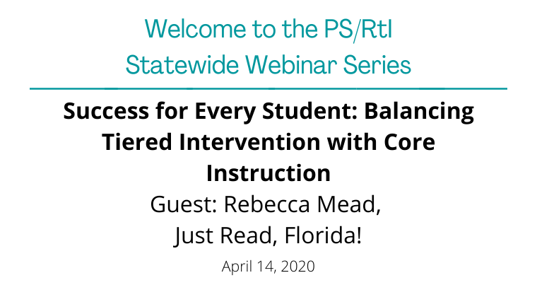 April 2020: Success for Every Student: Balancing Tiered Intervention with Core Instruction