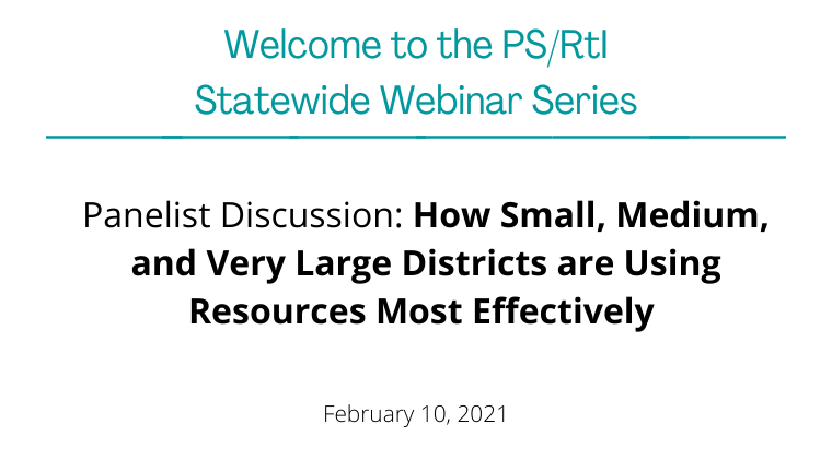 February 2021: Using Resources Most Effectively