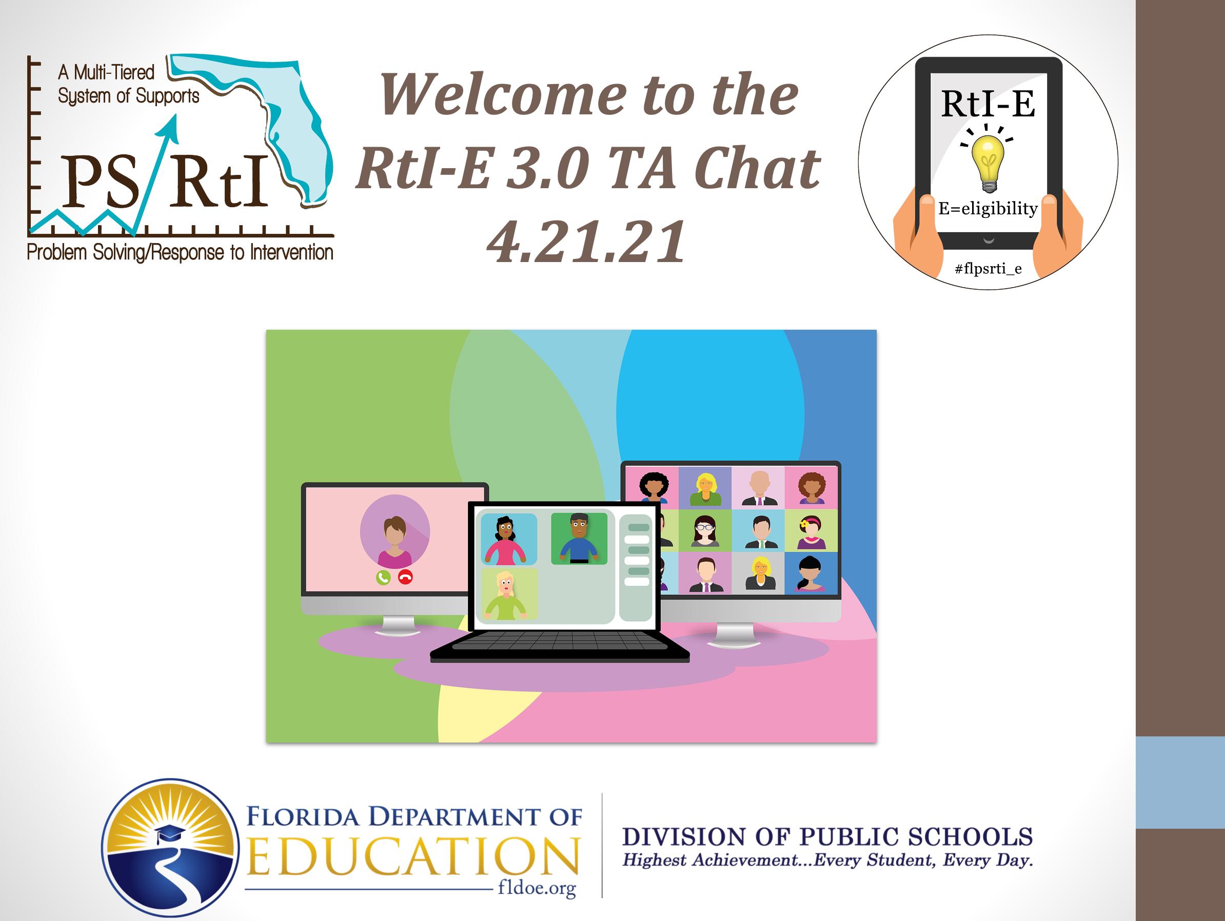 RtI-E 3.0 TA Chat (4.21.21)