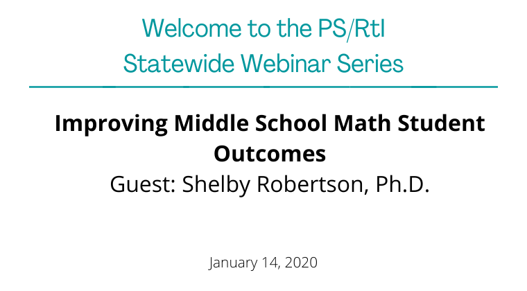 January 2020: Improving Middle School Math Student Outcomes