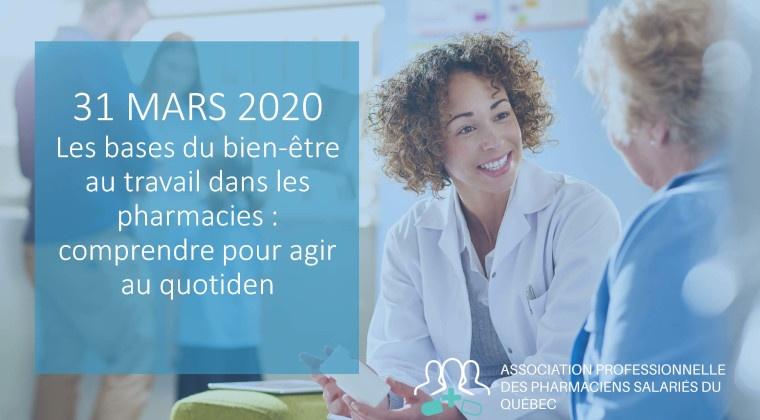 Les bases du bien-être au travail dans les pharmacies: comprendre pour agir au quotidien(#OPQ: 7865)