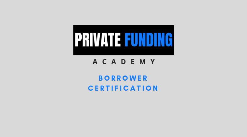 Borrower Certification