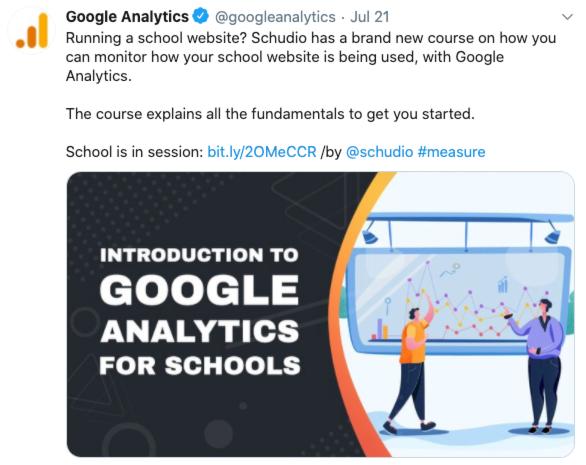 Google Analytics for Schools
