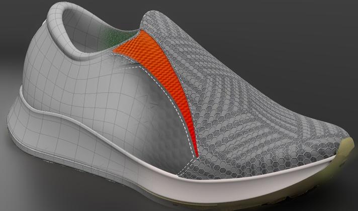 Athletic Footwear Modeling in Modo: Masking Method