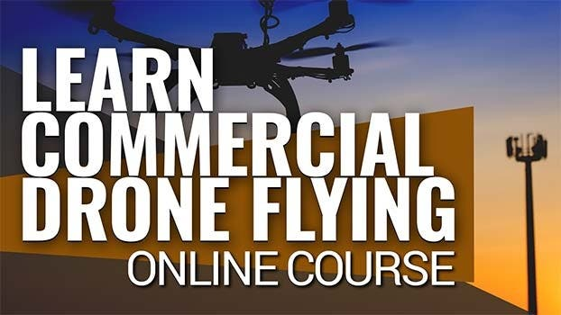 Commercial Drone Flying