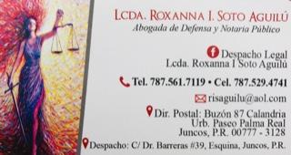 La Abogada Motorizada Lcda Roxana Soto Aguilu