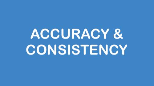 Accuracy & Consistency