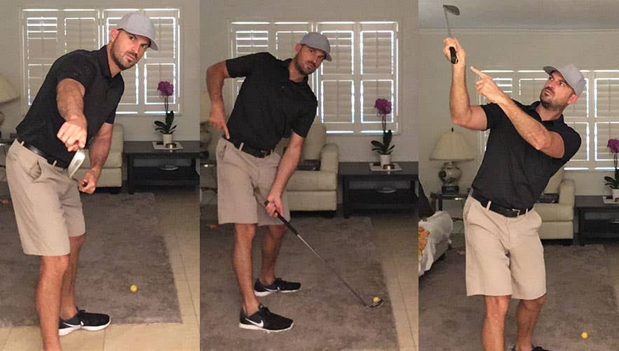 Get the feel for the proper swing mechanics