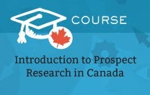 Introduction to Prospect Research in Canada