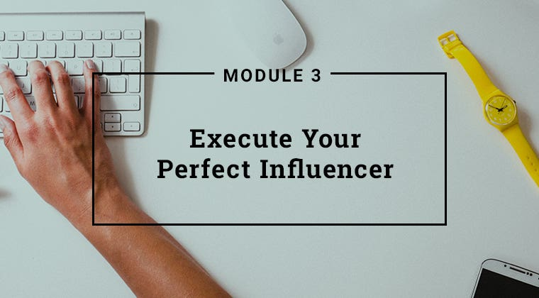 Module 3: Execute Your Perfect Influencer