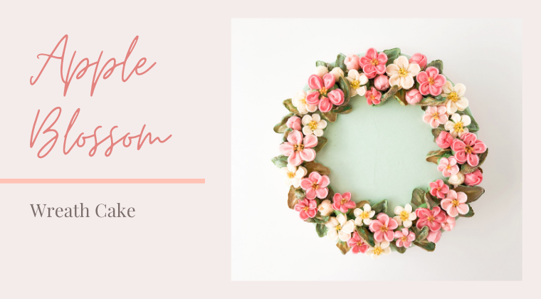 Apple Blossom Wreath Cake