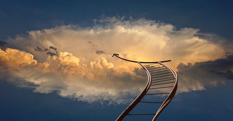 Bilde av en stige som går til himmels